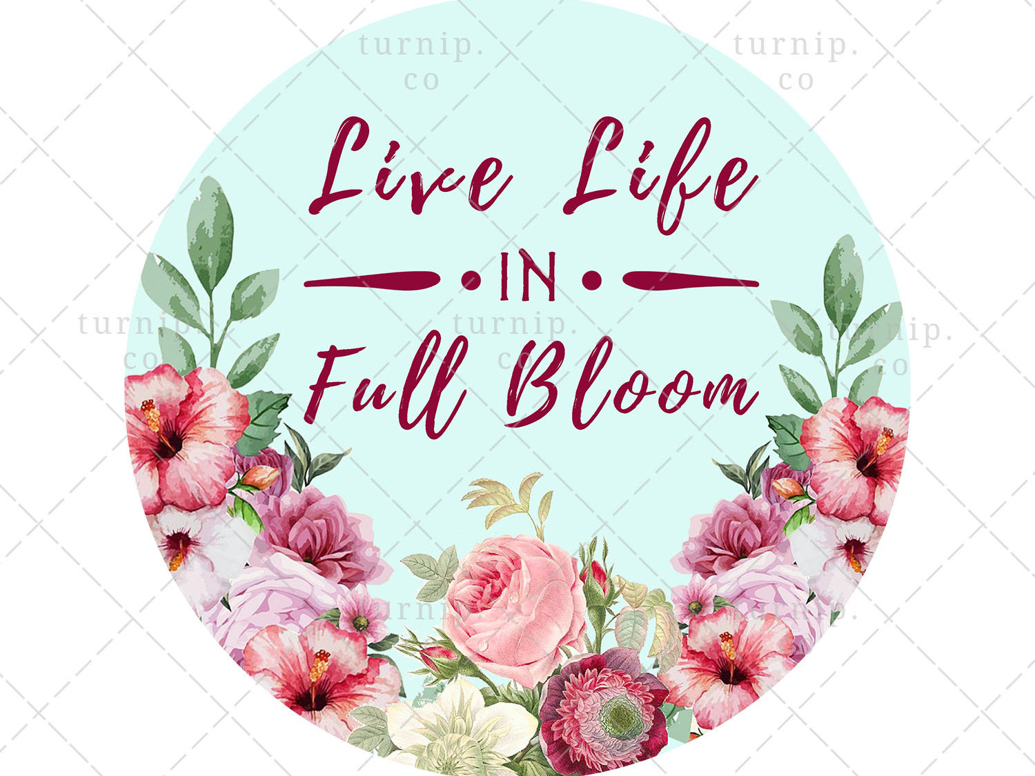 Live life clipart clipart Live Life in Full Bloom Sublimation Watercolor Clipart Graphic by ... clipart