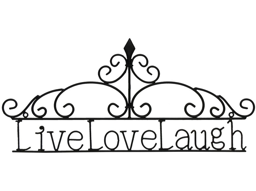 Live love laugh clipart black and white