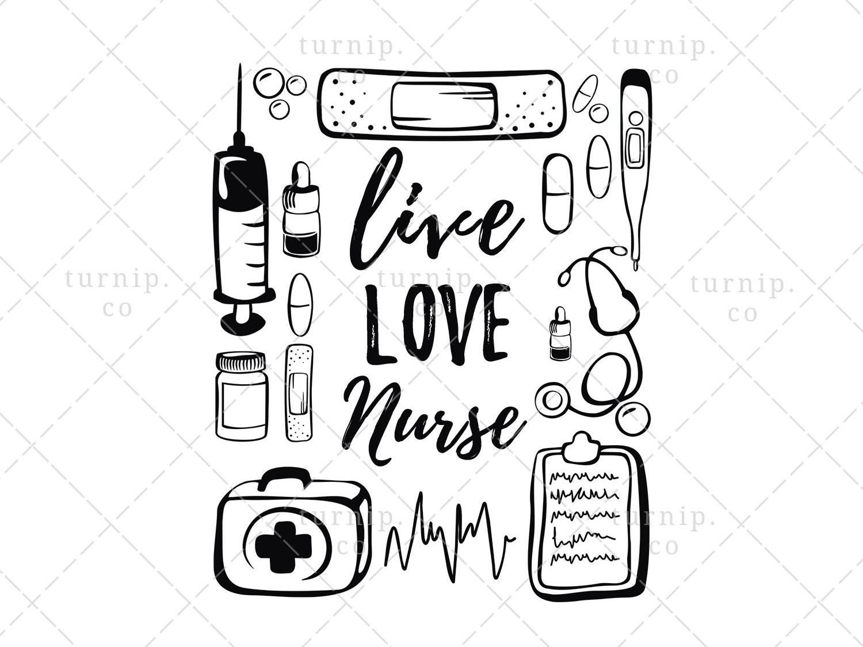 Live love clipart picture royalty free download Live Love Nurse Sublimation Clipart PNG Graphic by turnip on Dribbble picture royalty free download