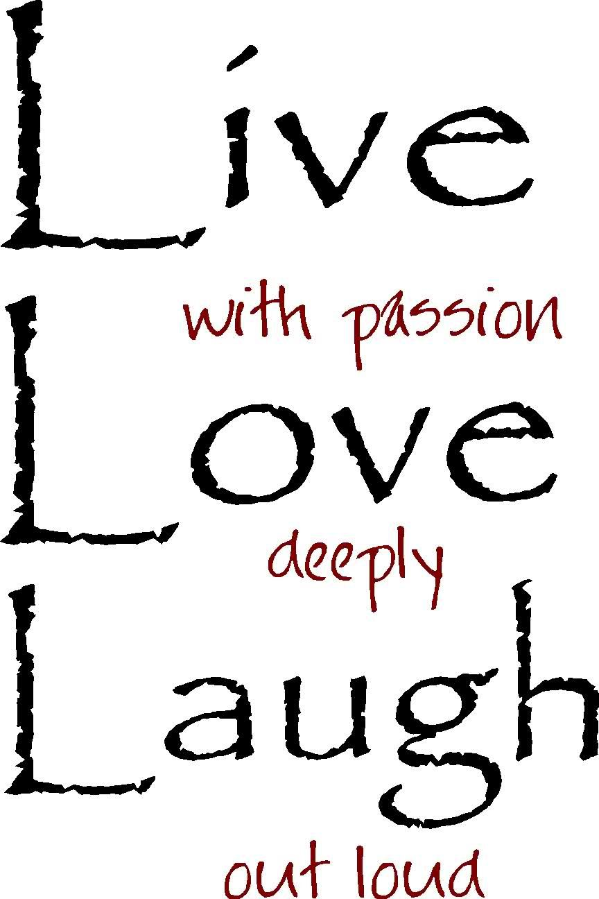 Live love laugh clipart black and white vector freeuse stock Live Laugh Love Out Loud - Vinyl Wall Art Decals Words | Paint Ideas ... vector freeuse stock