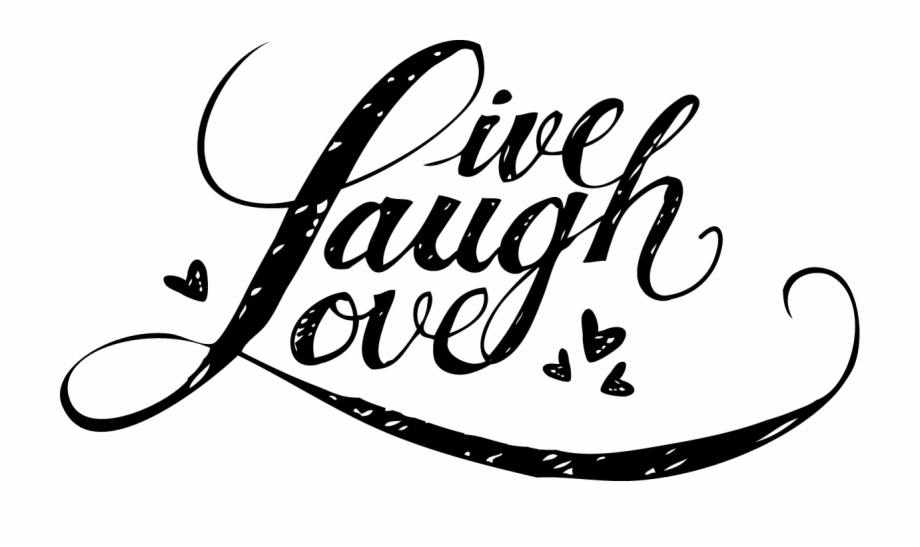 Live love laugh clipart black and white graphic free library Load Image Into Gallery Viewer, Personalized Live, - Calligraphy ... graphic free library