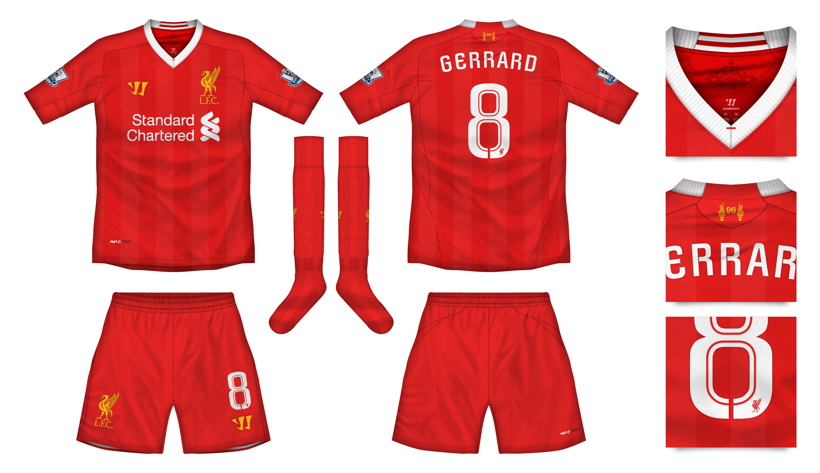 Liverpool kit clipart vector free library Liverpool Home Kit vector free library
