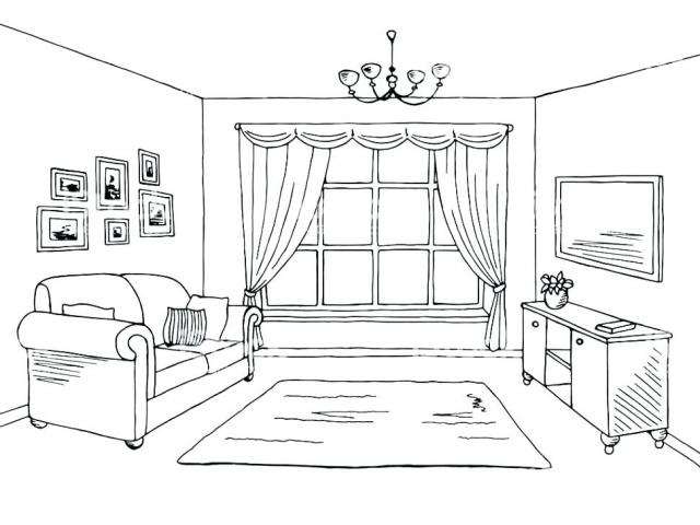 Living room clipart black and white graphic free download Free Living Room Clipart, Download Free Clip Art on Owips.com graphic free download