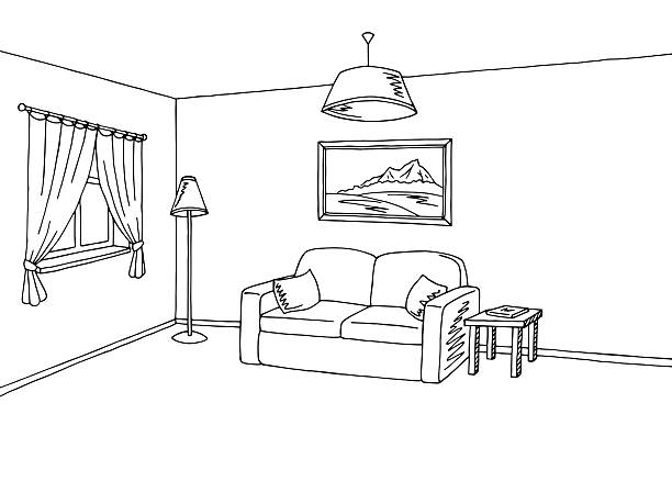 Living room clipart black and white vector library stock Living room clipart black and white 3 » Clipart Station vector library stock