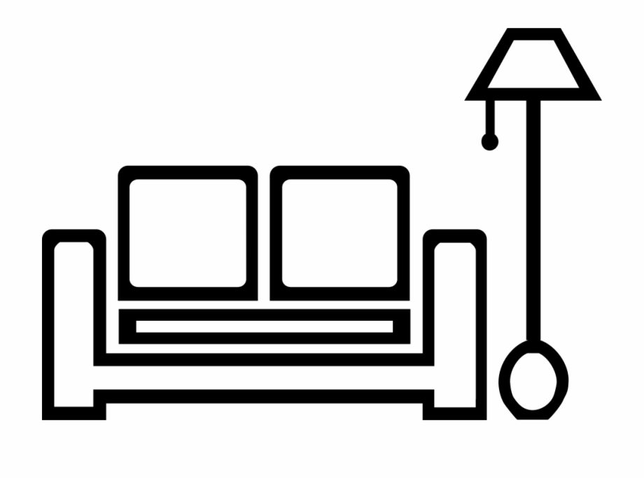 Living room clipart black and white jpg royalty free library Living Room Icon Png - Clip Art Library jpg royalty free library