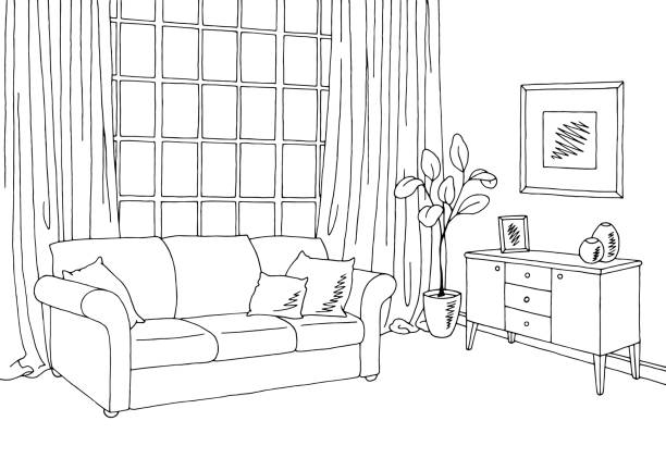 Living room clipart black and white clipart freeuse Living room clipart black and white 5 » Clipart Station clipart freeuse
