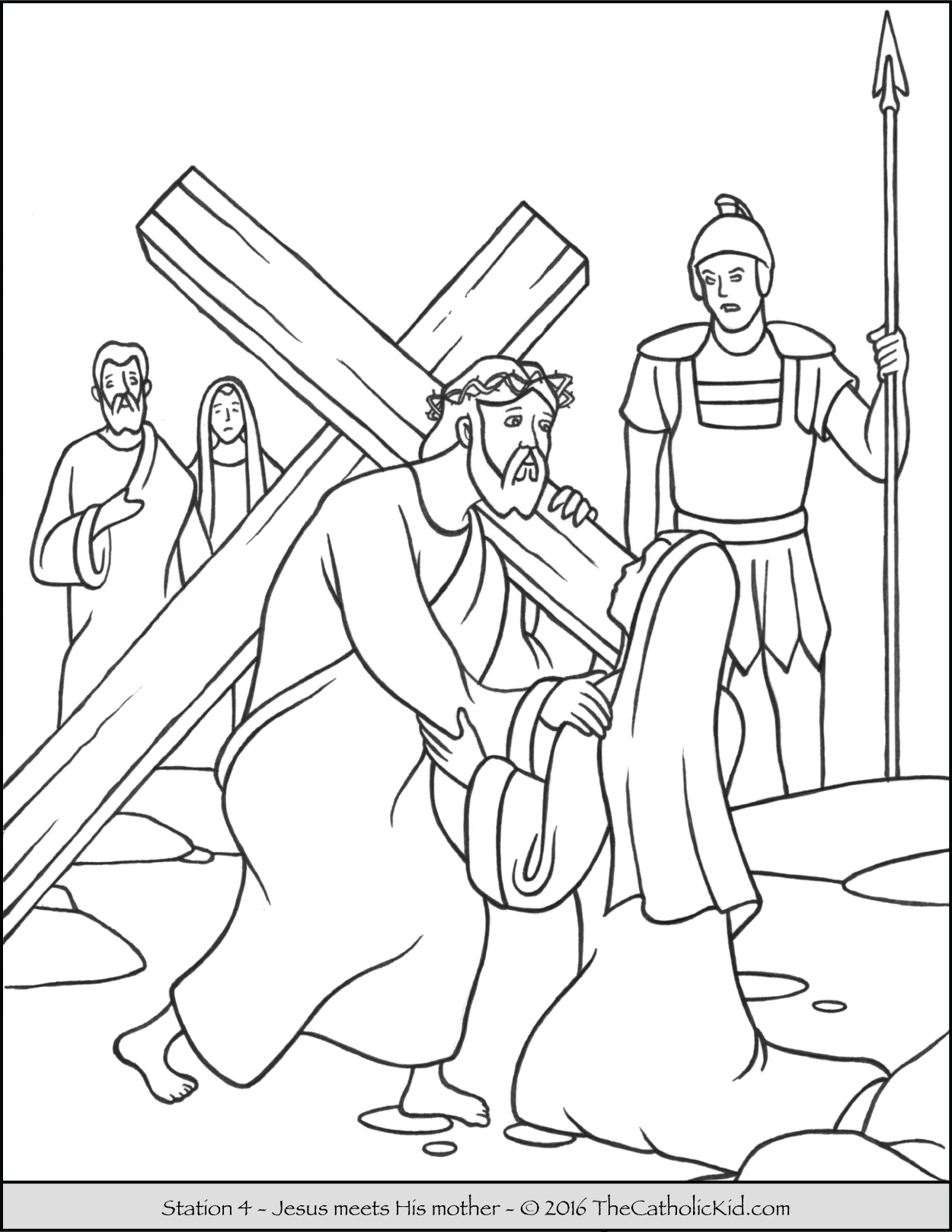 Living stations of the cross clipart banner transparent download Stations of the Cross Coloring Pages - The Catholic Kid banner transparent download