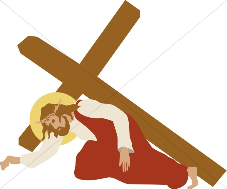 Living stations of the cross clipart royalty free Jesus Stumbles Under the Cross | Stations of the Cross Clipart royalty free