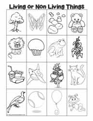 Non living things clipart black and white banner Living and Non Living Things Worksheets banner