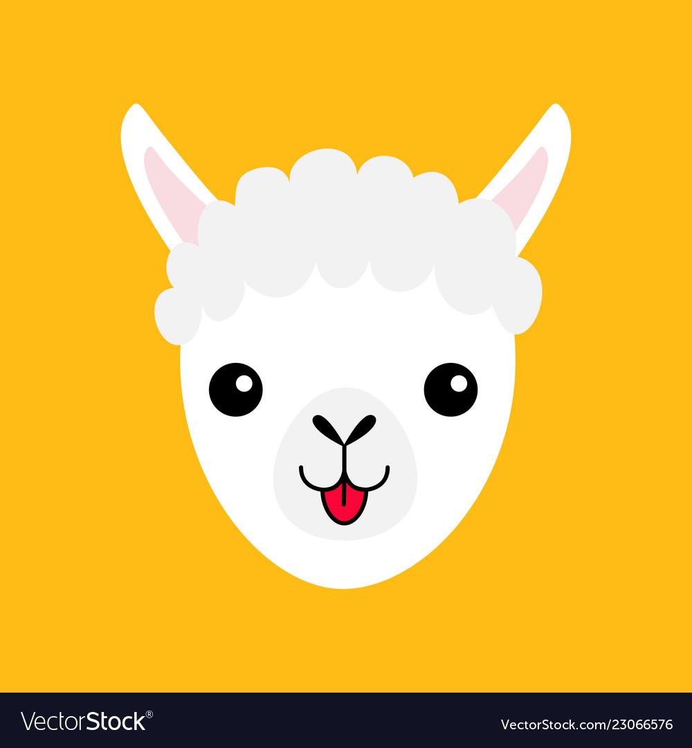 Llama face clipart graphic black and white Llama alpaca animal face icon cute cartoon funny graphic black and white