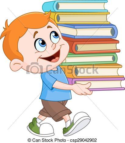 Llevar libros a la biblioteca - clipart graphic transparent library niño, proceso de llevar, libros graphic transparent library