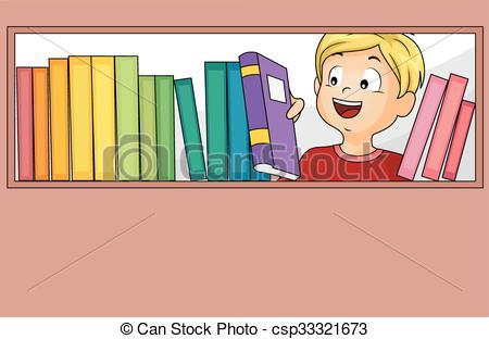 Llevar libros a la biblioteca - clipart clip black and white niño, selección, libros, biblioteca, niño clip black and white