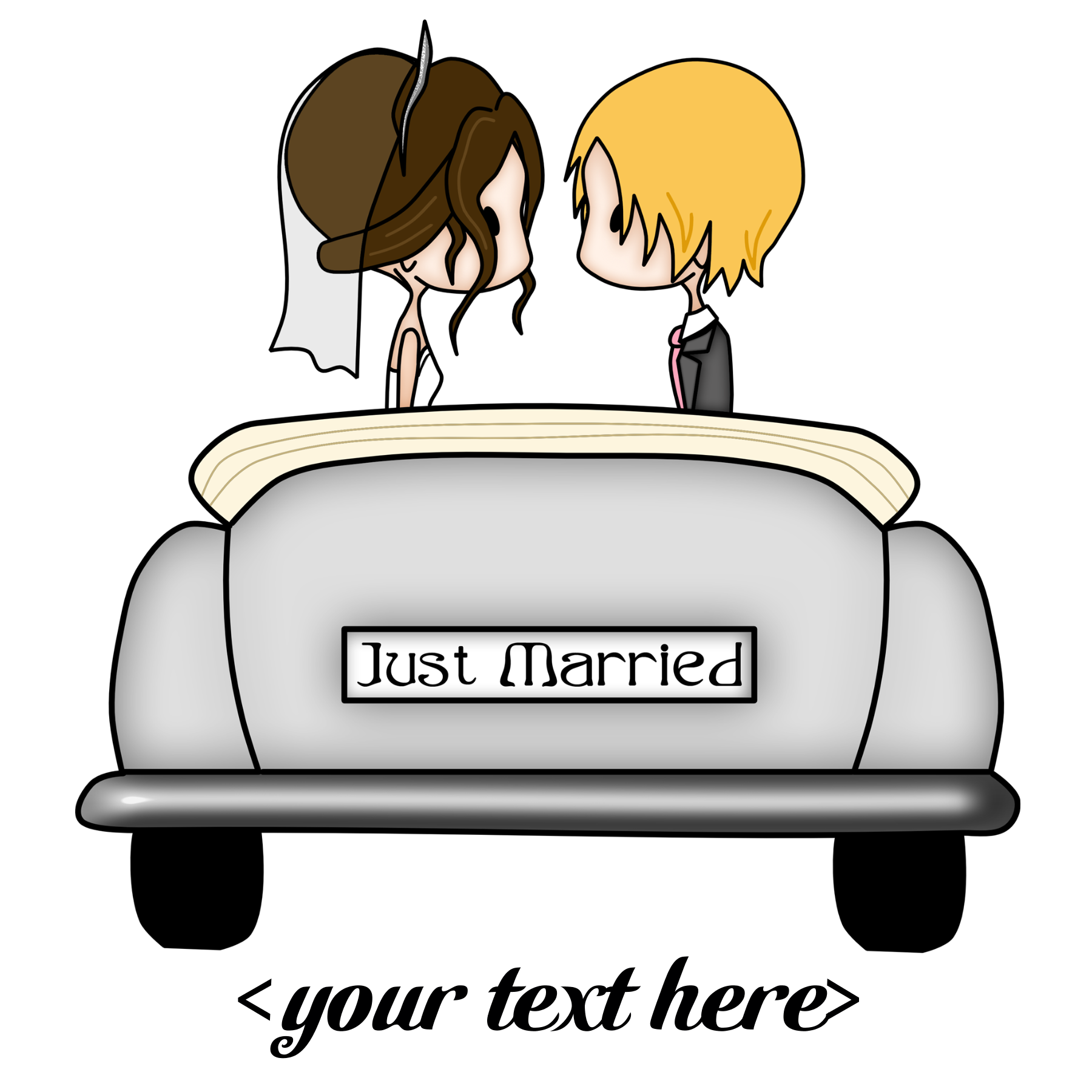 Loading car clipart stock Just Married Clip Art stock