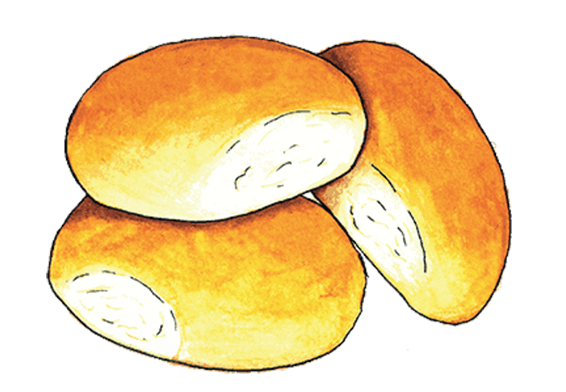 Loaf of bread aerial view clipart clip library download Dinner roll clipart clipart images gallery for free download ... clip library download
