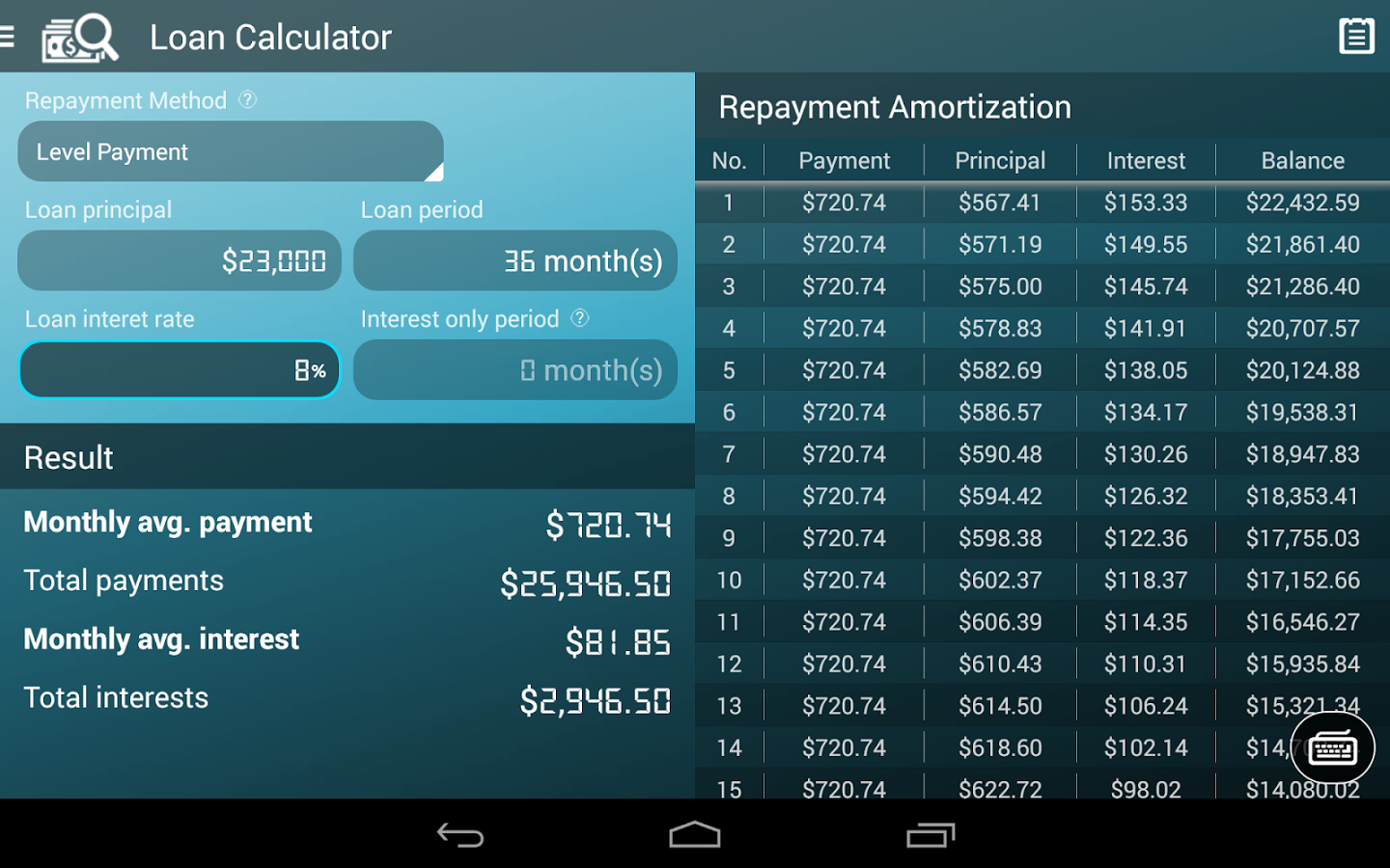Loan calculator clipart black and white library Loan Calculator - Android Apps on Google Play clipart black and white library