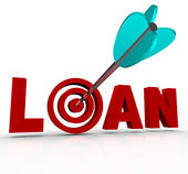 Loan clipart banner library download Clip Art of Loan Word Calculator Borrow Money Apply Financing Bank ... banner library download