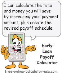 Loan payoff calculator graphic freeuse download Early Loan Payoff Calculator to Calculate Extra Payment Savings graphic freeuse download