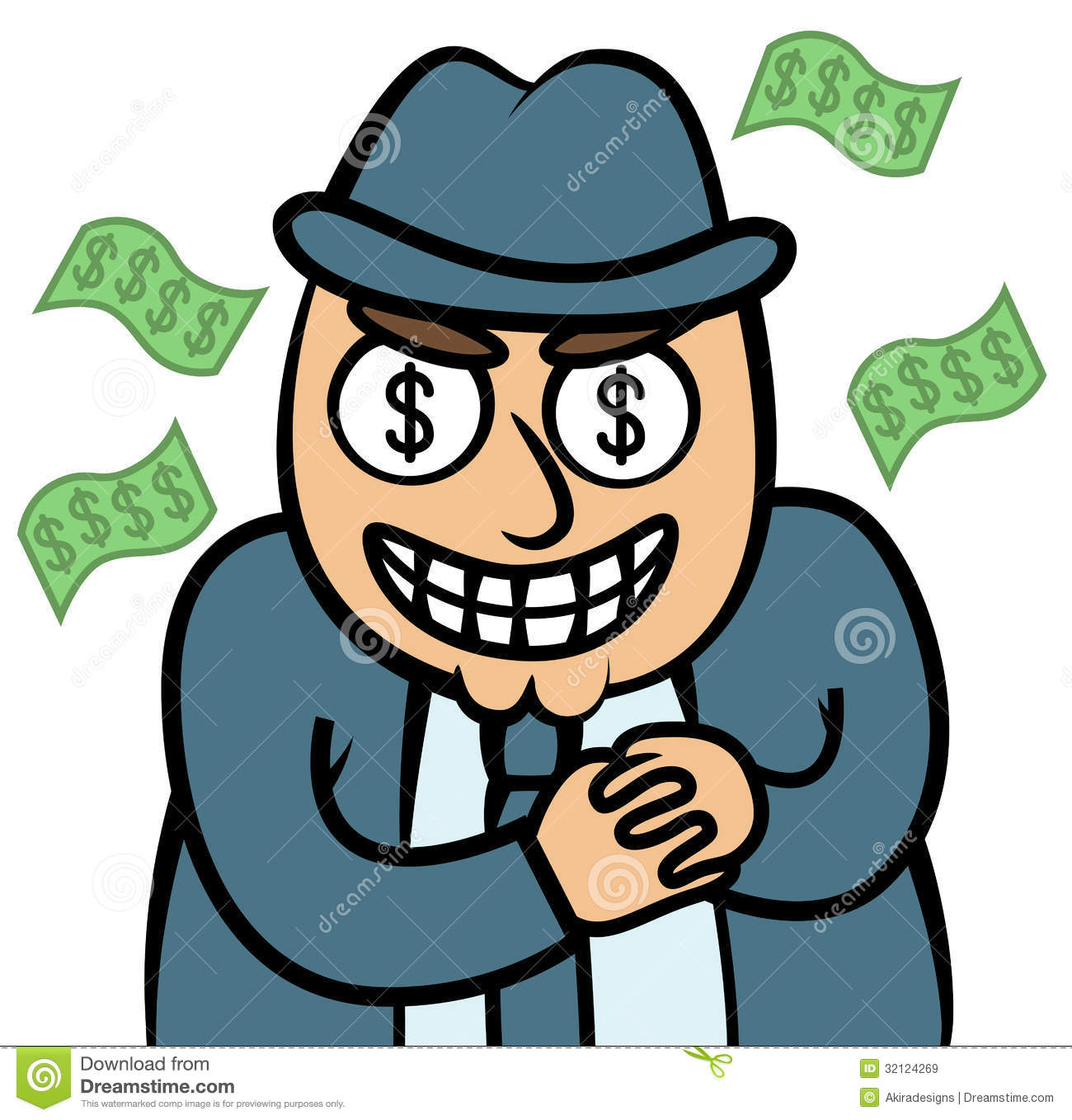Loan shark clipart picture royalty free stock Evil Money Hungry Man In Suit Royalty Free Stock Images - Image ... picture royalty free stock
