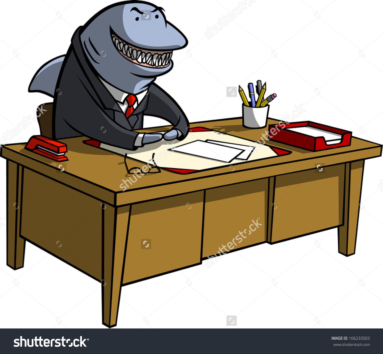 Loan shark clipart clip library library Cartoon Illustration Shark Business Attire Sitting Stock Vector ... clip library library
