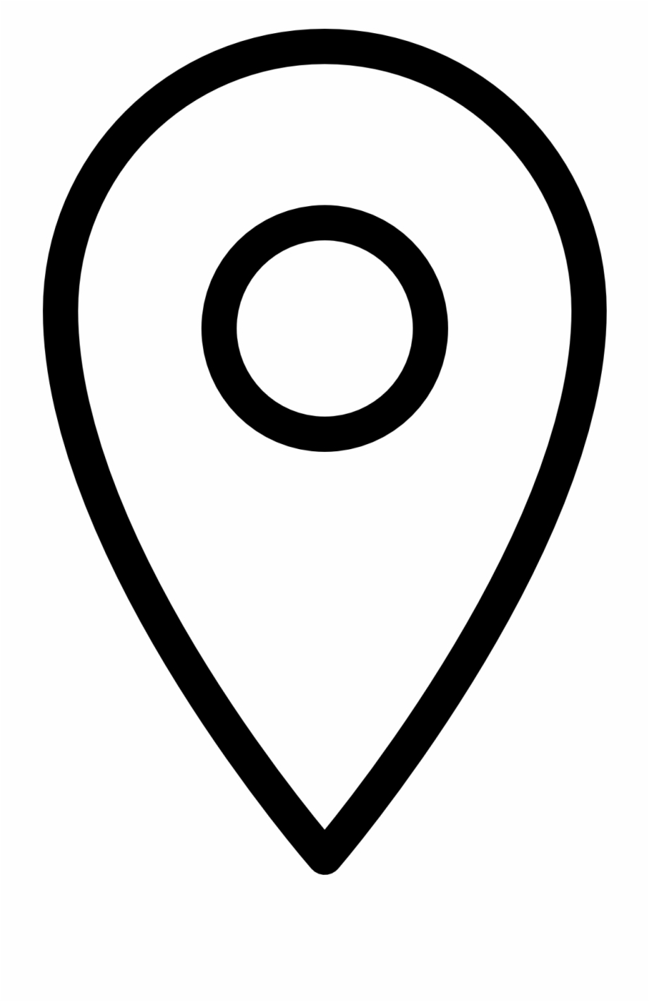 Location icon clipart free download image free library Location Icon Png White Free PNG Images & Clipart Download #8043 ... image free library