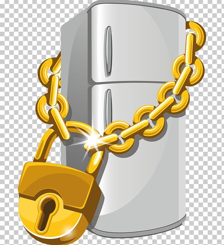 Lock and chain clipart freeuse download Refrigerator Lock Stock Photography PNG, Clipart, Cartoon, Chain ... freeuse download