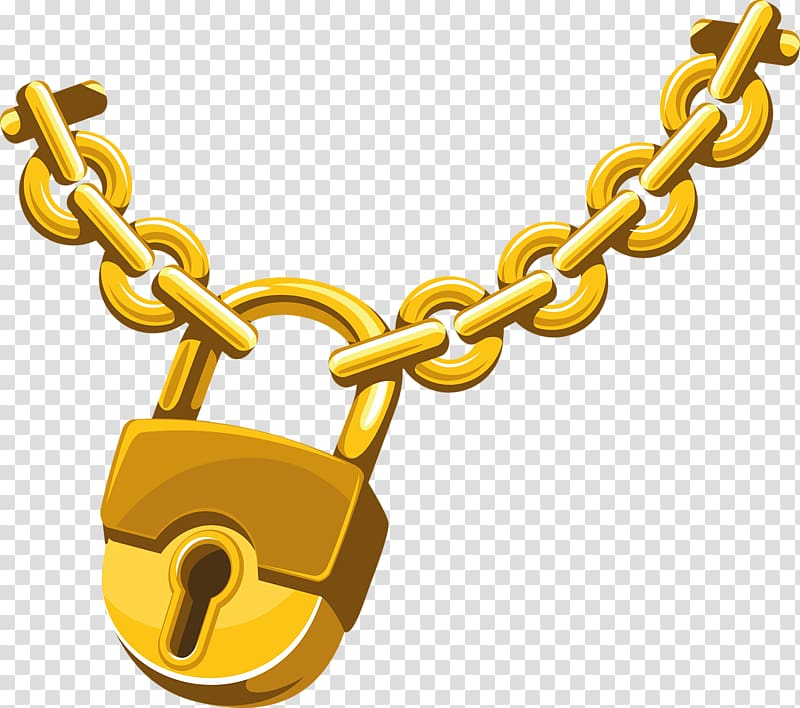 Lock and chain clipart jpg library stock Gold chain and padlock illustration, Chain Lock , Gold chains ... jpg library stock