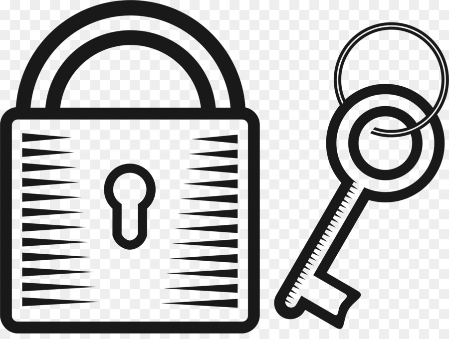 Lock and key clipart black and white graphic library library Padlock png download - 2377*1766 - Free Transparent Black And White ... graphic library library