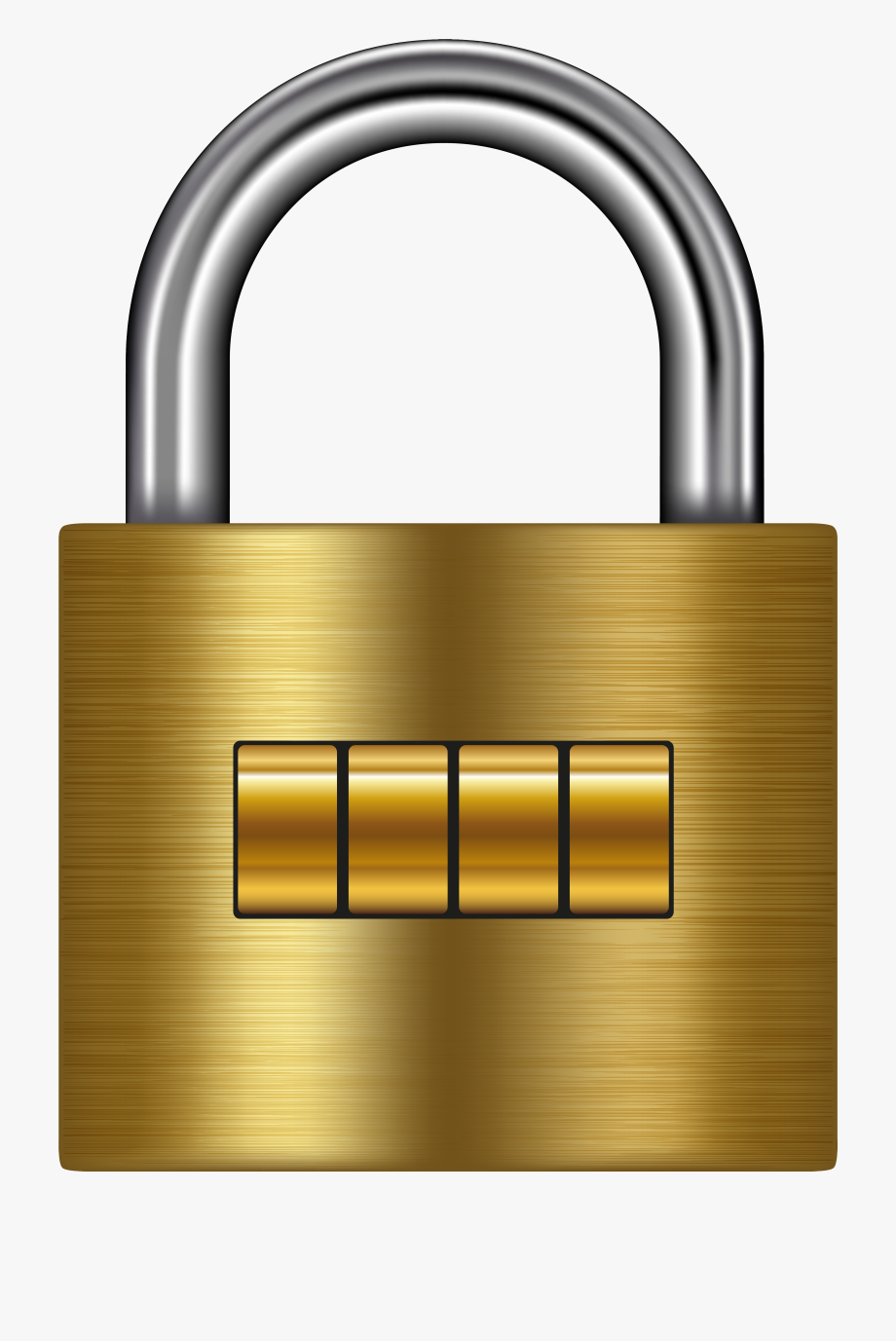 Lock clipart images svg freeuse stock Lock Gold Png Clip Art - 4 Digit Lock Clipart #220673 - Free ... svg freeuse stock