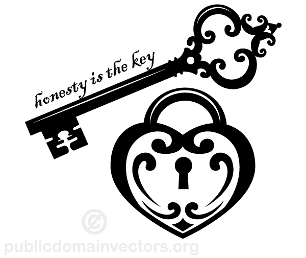 Lock vector clipart picture free download Honesty is the Key Vector Art picture free download