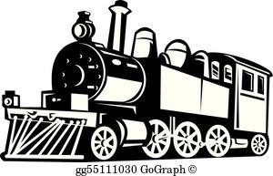 Clipart tirain banner black and white Train Clip Art - Royalty Free - GoGraph banner black and white