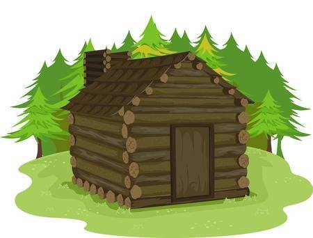 Log cabin images clipart black and white stock Log cabin clipart » Clipart Portal black and white stock