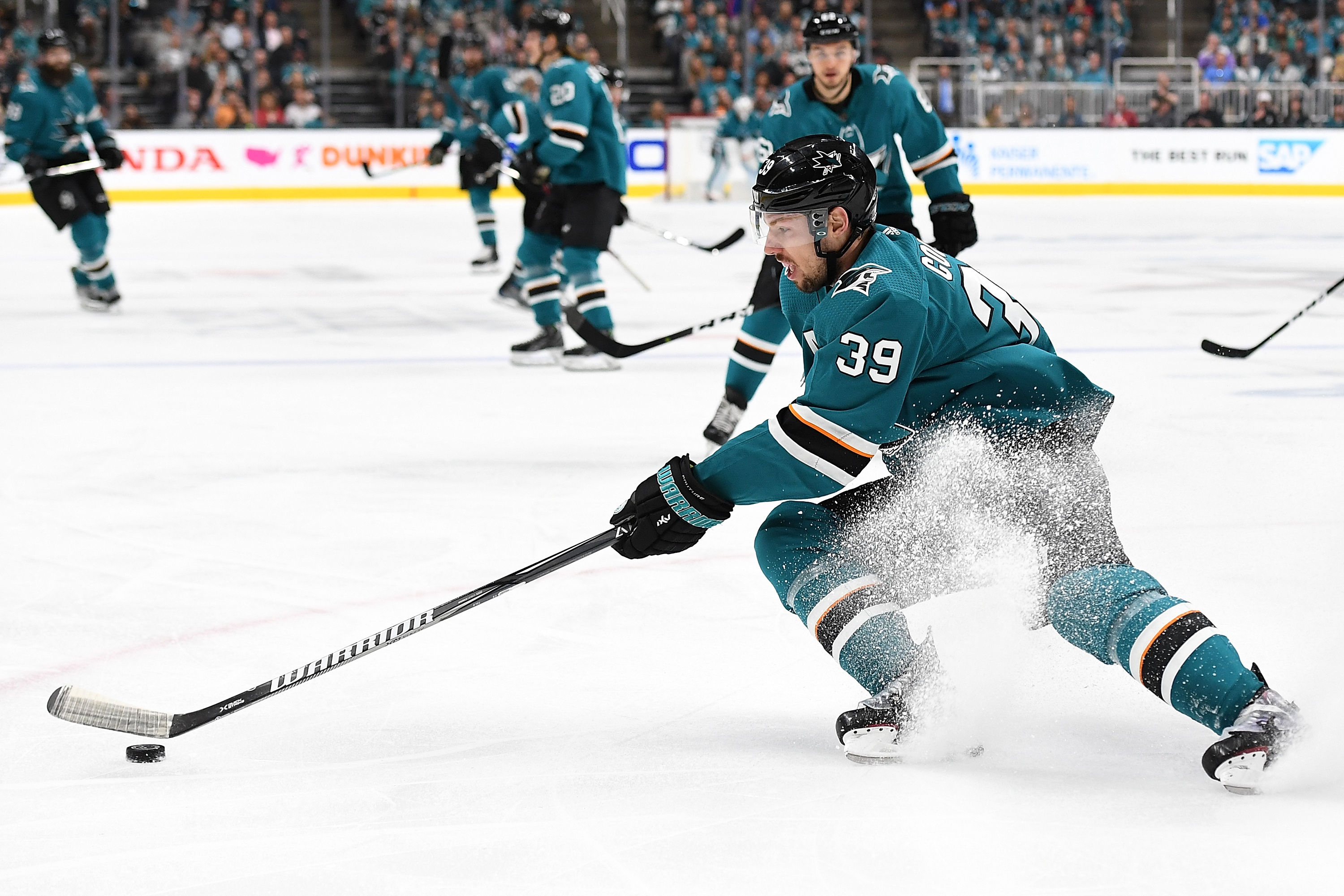 Logan couture clipart svg black and white Logan Couture, Sharks Win Western Conference Final Game 1 6-3 vs ... svg black and white
