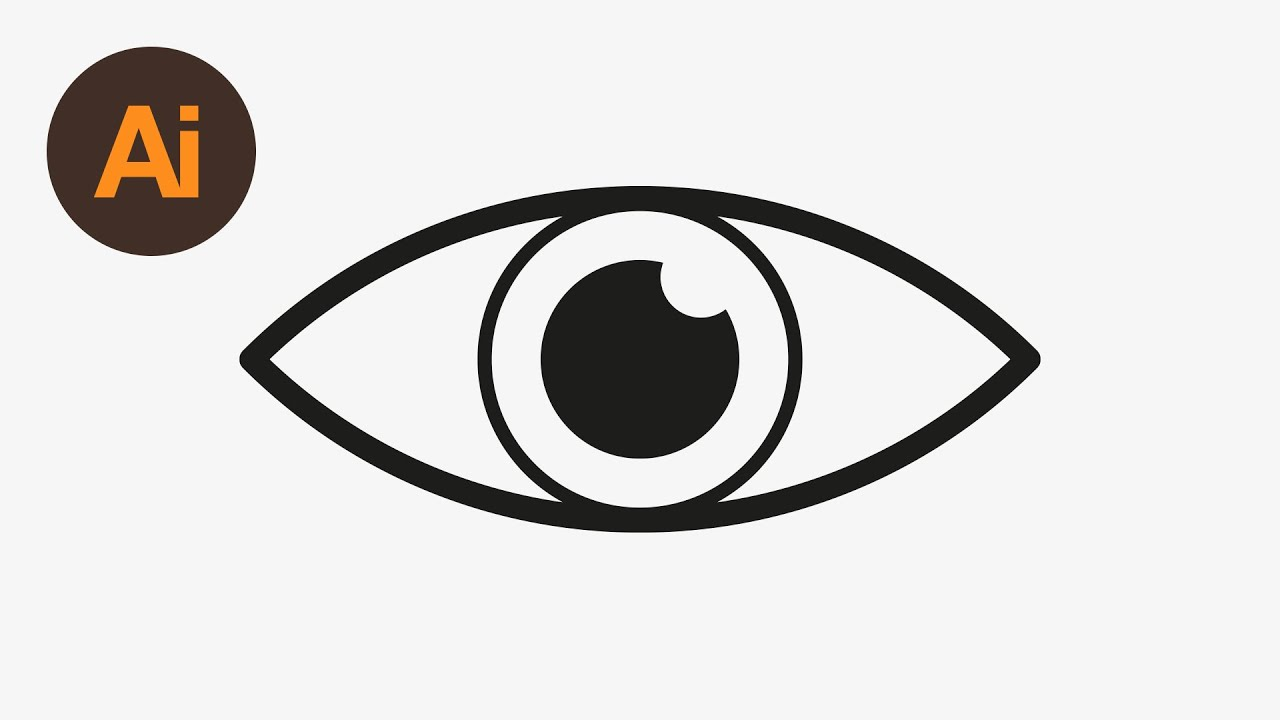 Logo adobe illustrator clipart image freeuse library Learn How to Draw an Eye Icon in Adobe Illustrator | Dansky image freeuse library