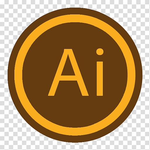 Logo adobe illustrator clipart picture royalty free stock Round brown and orange Adobe Ai logo, area trademark symbol brand ... picture royalty free stock