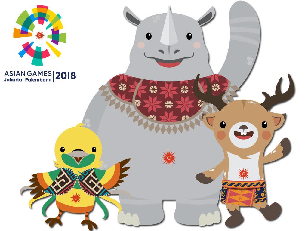 Logo asian games 2018 clipart svg black and white stock Logo atau Maskot Asian Games 2018 Penuh Filosofi svg black and white stock