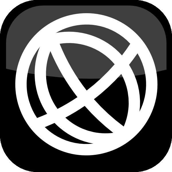 Logo clipart website jpg black and white download Black Globe Icon 1 Clip Art at Clker.com - vector clip art online ... jpg black and white download