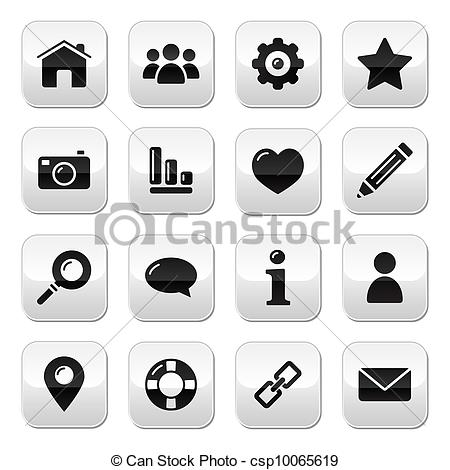 Logo clipart website png library download Vector Clip Art of Website menu navigation buttons - h - Glossy ... png library download