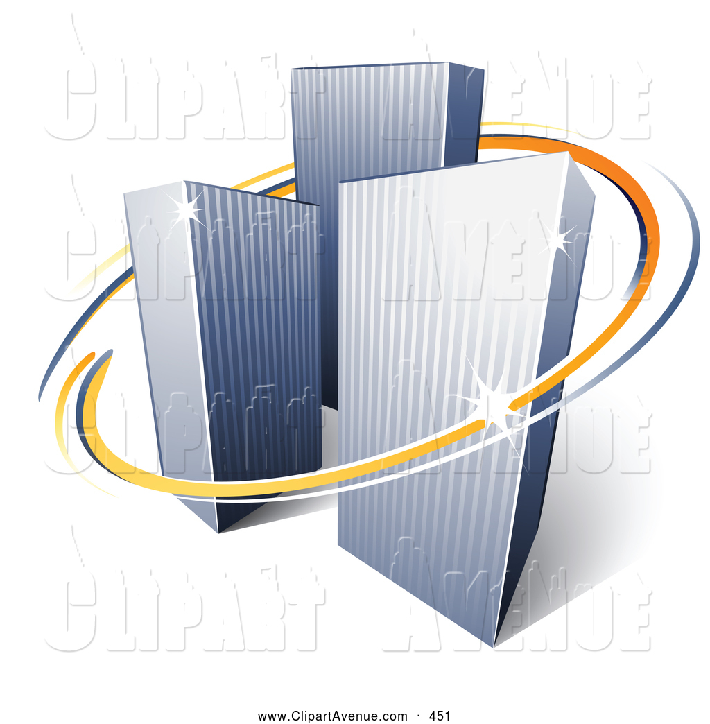 Logo company clipart graphic black and white library Avenue Clipart of a Pre-Made Logo of Orange and Blue Lines ... graphic black and white library