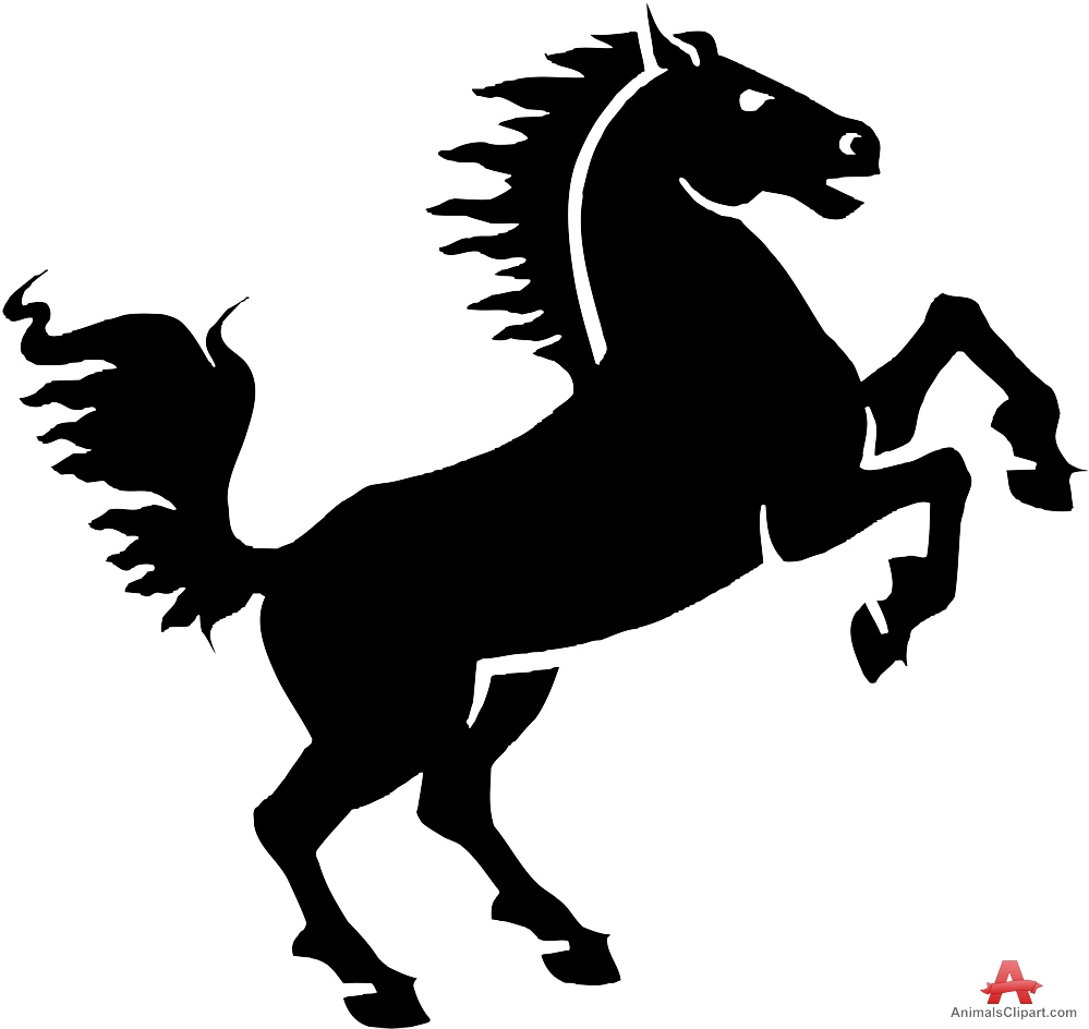 Logo creator clipart clip art free stock Horse Standing Silhouette Stencil Logo Design | Free Clipart ... clip art free stock