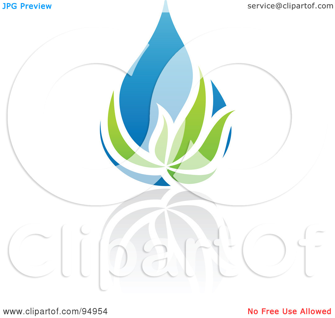 Logo creator clipart png free stock Royalty-Free (RF) Clipart Illustration of a Blue And Green Organic ... png free stock