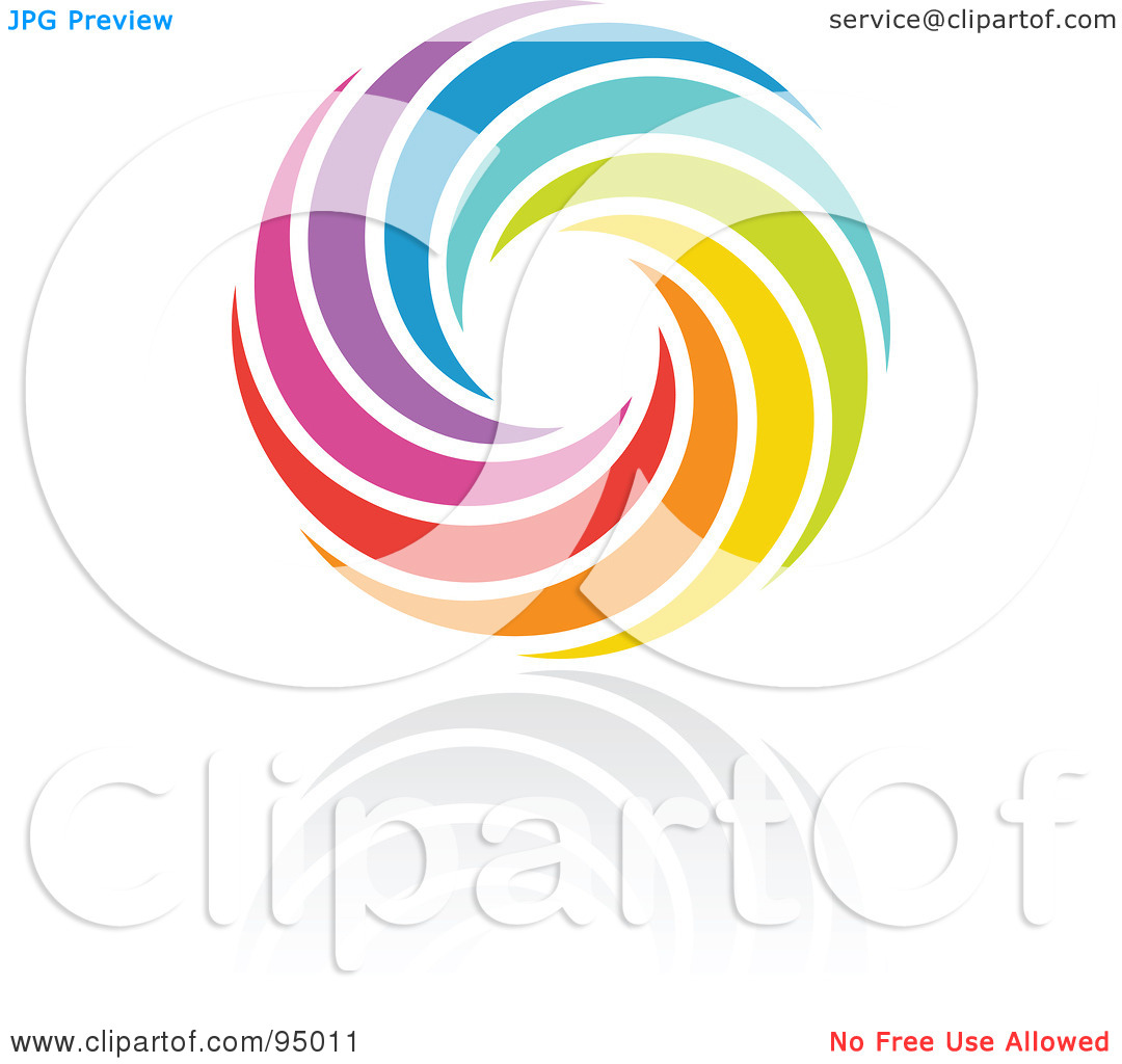 Logo creator clipart graphic free stock Royalty-Free (RF) Clipart Illustration of a Rainbow Circle Logo ... graphic free stock