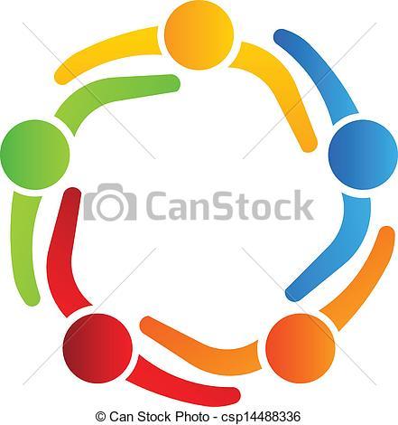 Logo creator clipart vector black and white Vectors of Business logo design, partners 5 csp14488336 - Search ... vector black and white
