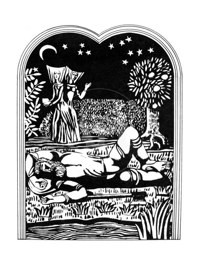 Logo decameron clipart picture freeuse library Illustration from the Decameron, 1978 Giclee Print by Alexander Ponomarev |  Art.com picture freeuse library