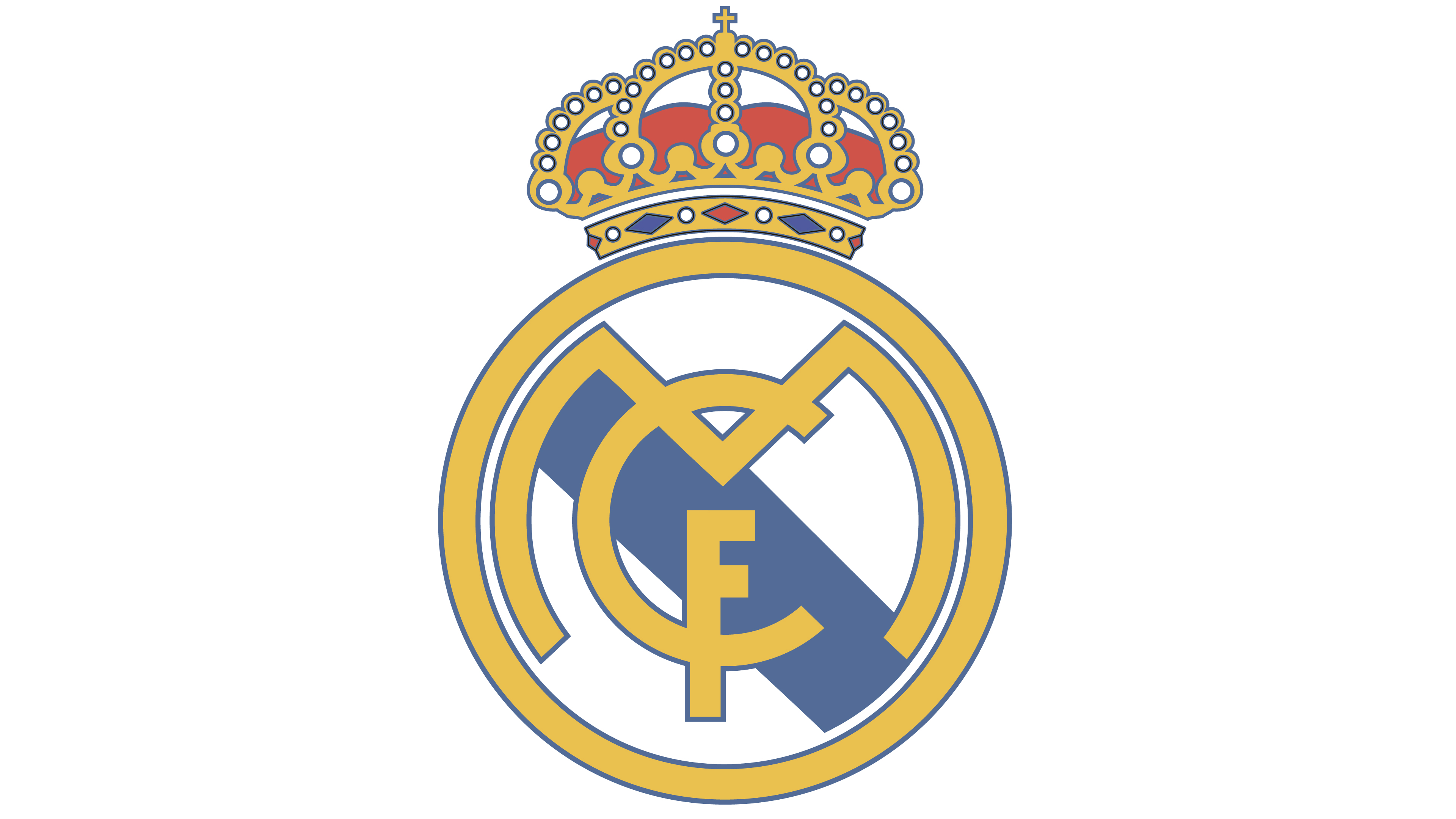 Logo del real madrid clipart jpg freeuse download Real Madrid logo - Interesting History of the Team Name and emblem jpg freeuse download