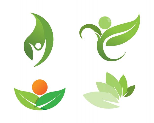 Logo ecologico clipart clip art black and white library Diseño de logo de vector de hoja de árbol, concepto ... clip art black and white library