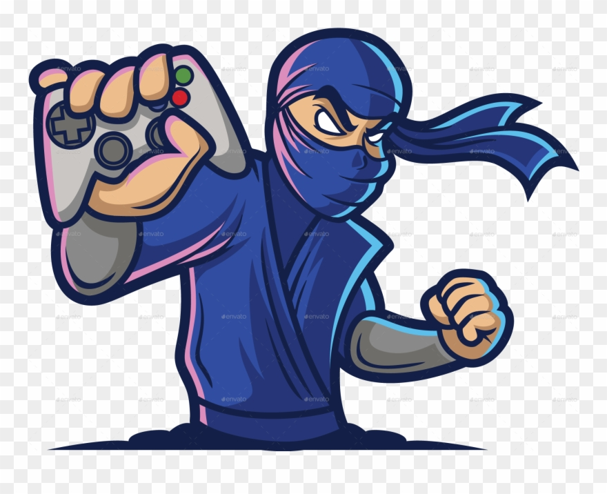 Logo gamer clipart svg freeuse library Png/gaming Ninja Logo Color 01 - Ninja Logo Gaming Png ... svg freeuse library