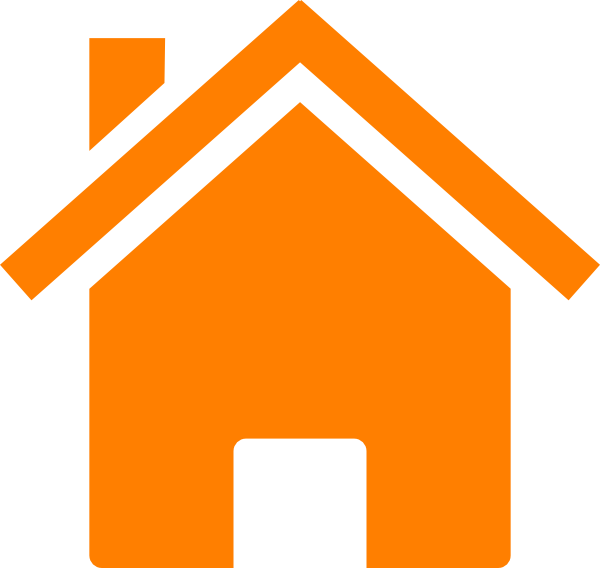 Logo house clipart vector transparent download Simple Orange House Clip Art at Clker.com - vector clip art online ... vector transparent download