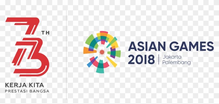 Logo hut ri 73 clipart vector transparent Logo Hut Ri Ke-73 Dan Asian Games - Asian Games Logo Png ... vector transparent