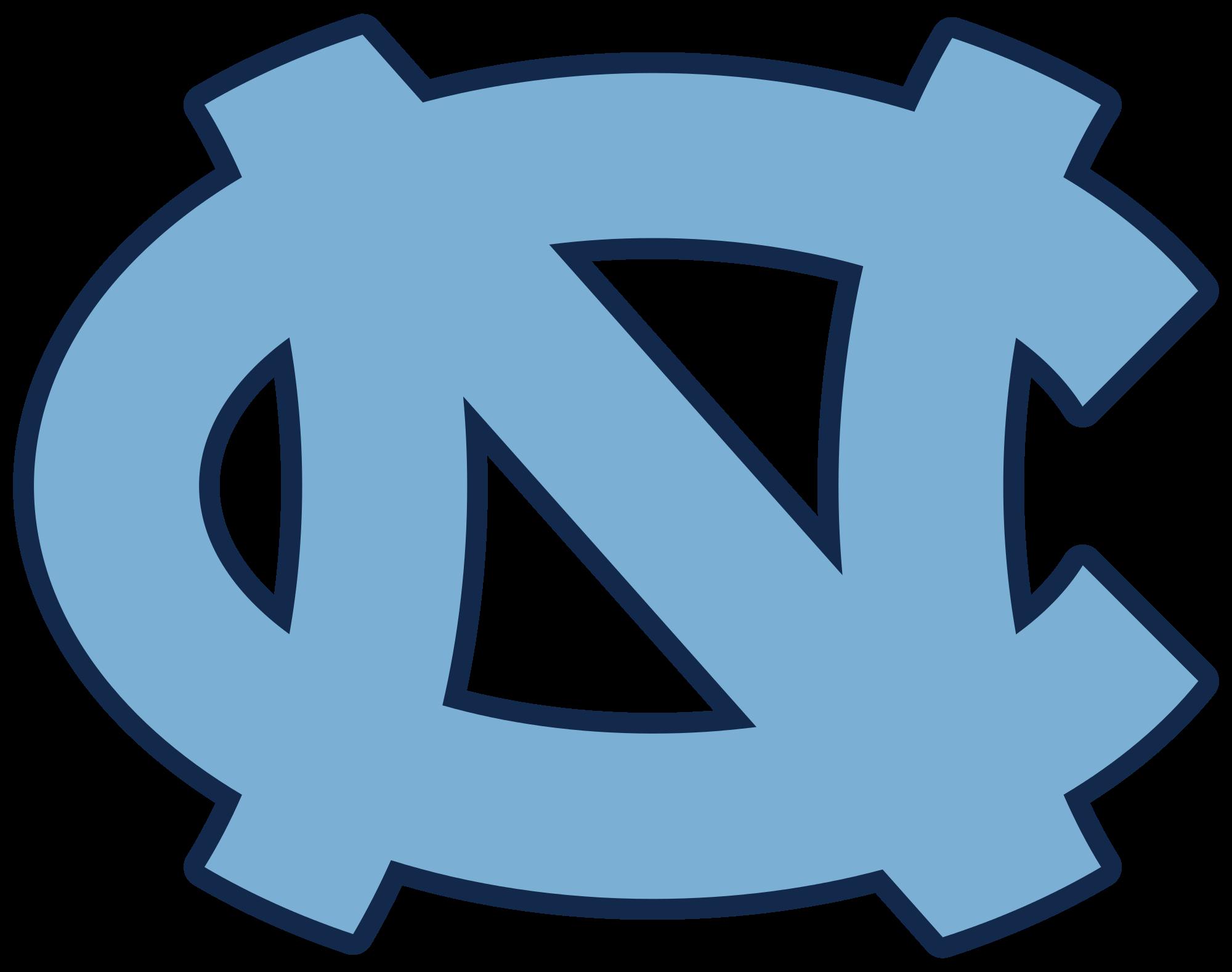 Basketball homecoming clipart vector transparent download File:University of North Carolina Tarheels Interlocking NC logo ... vector transparent download