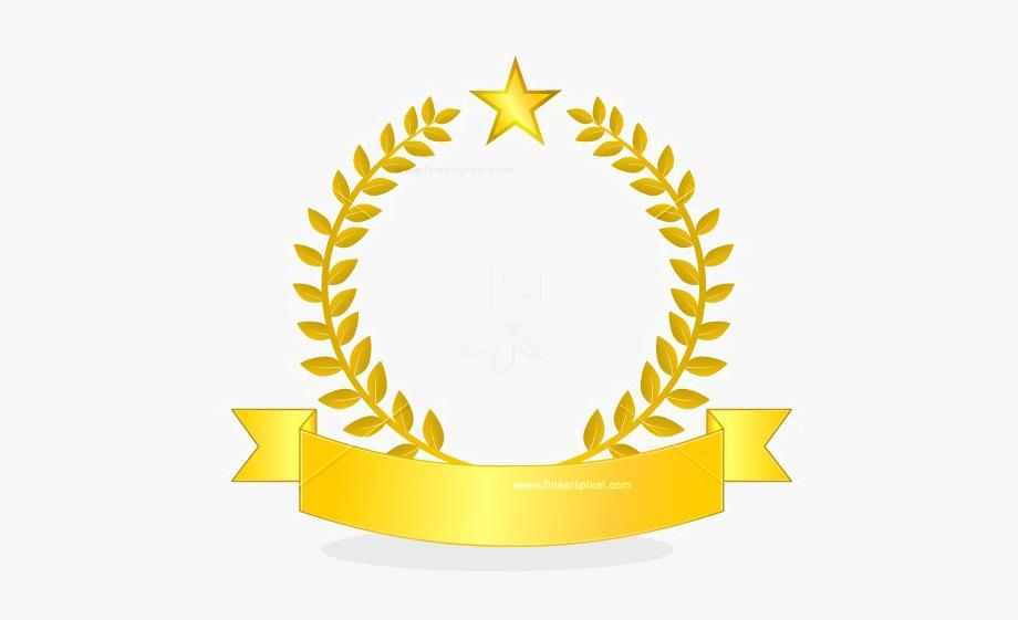 Logo ribbon clipart clipart black and white stock Golden Ribbon Png Picture - Gold Ribbon Logo Png #1388010 ... clipart black and white stock